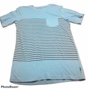 Firefly blue striped pocket tee Men's small
